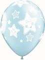 24941 Qualatex Luftballon Geburt Bub Bursch Baby blau